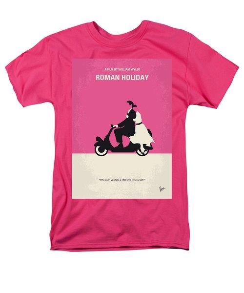 No205 My Roman Holiday Minimal Movie Poster Men's T-Shirt  (Regular Fit)