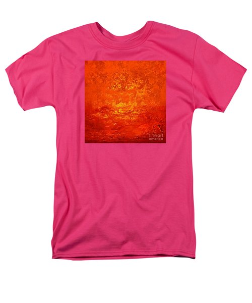 One Night In Old Shanghai By Rjfxx.-original Minimalist Abstract Art Painting Men's T-Shirt  (Regular Fit) by RjFxx at beautifullart com