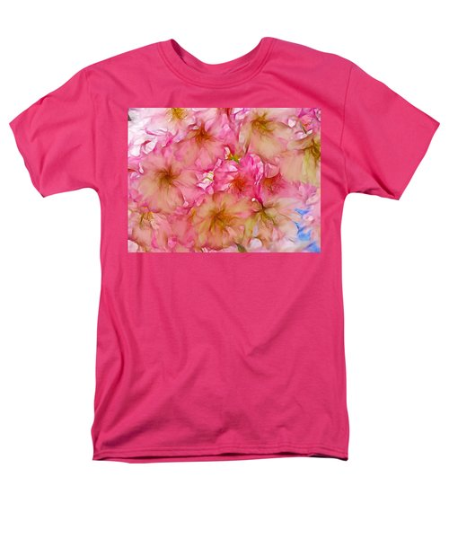 Men's T-Shirt  (Regular Fit) featuring the digital art Pink Blossom by Lilia D