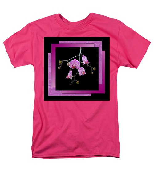 Men's T-Shirt  (Regular Fit) featuring the photograph Framed Orchid Spray by Patti Deters
