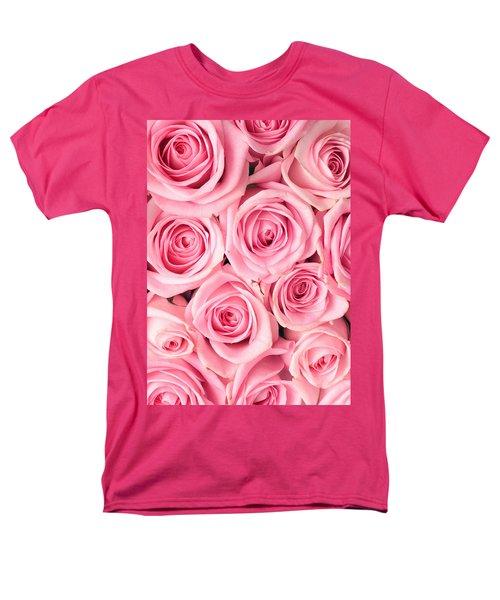 Pink Roses Men's T-Shirt  (Regular Fit) by Munir Alawi