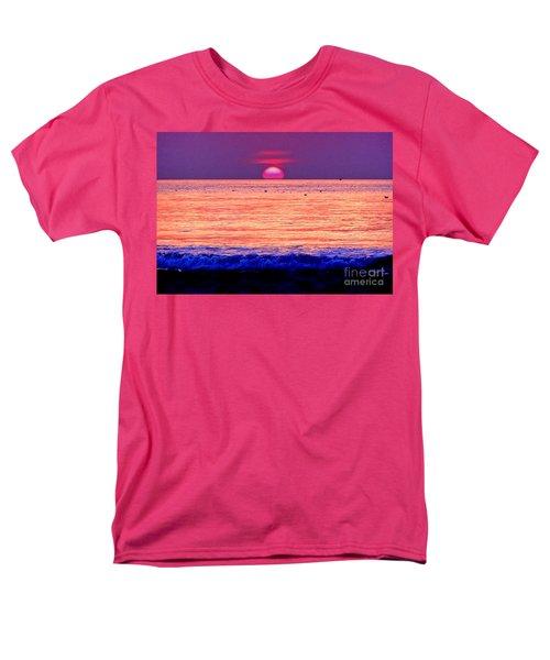 Pink Sun Men's T-Shirt  (Regular Fit) by Nina Ficur Feenan