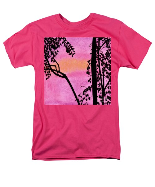 Men's T-Shirt  (Regular Fit) featuring the drawing Pink Sky Sunset by D Hackett