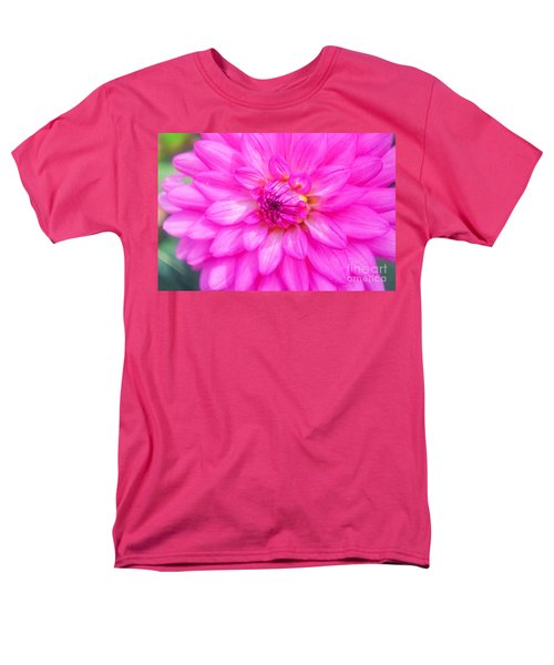 Pretty In Pink Dahlia Men's T-Shirt  (Regular Fit) by Peggy Franz