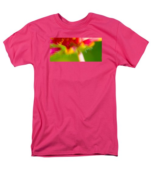 Rainbow Flower Men's T-Shirt  (Regular Fit) by Darryl Dalton