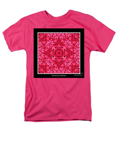 Men's T-Shirt  (Regular Fit) featuring the photograph Ranunculus Flower Warp by Rose Santuci-Sofranko