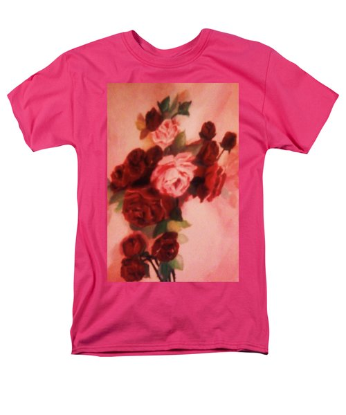 Red And Pink Roses Men's T-Shirt  (Regular Fit) by Christy Saunders Church