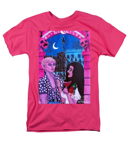 Men's T-Shirt  (Regular Fit) featuring the painting Romantic Couple by Don Pedro De Gracia