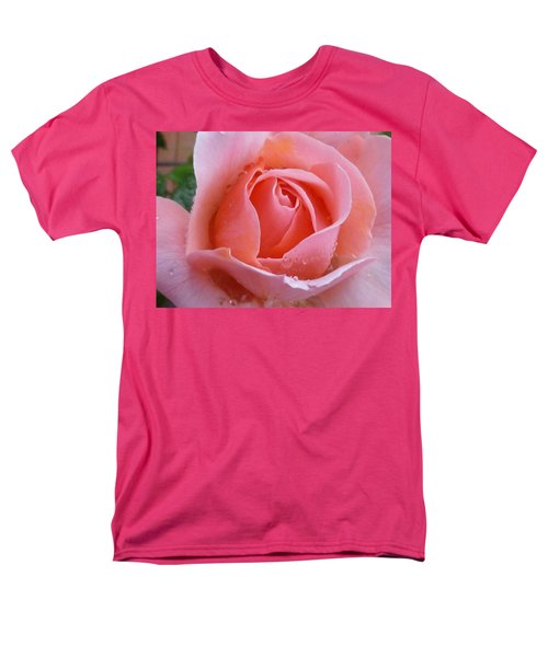 Men's T-Shirt  (Regular Fit) featuring the photograph Rose In The Rain by Lingfai Leung