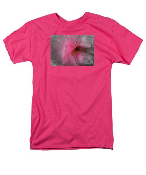 Men's T-Shirt  (Regular Fit) featuring the photograph Rose Voluptuous by Jean OKeeffe Macro Abundance Art