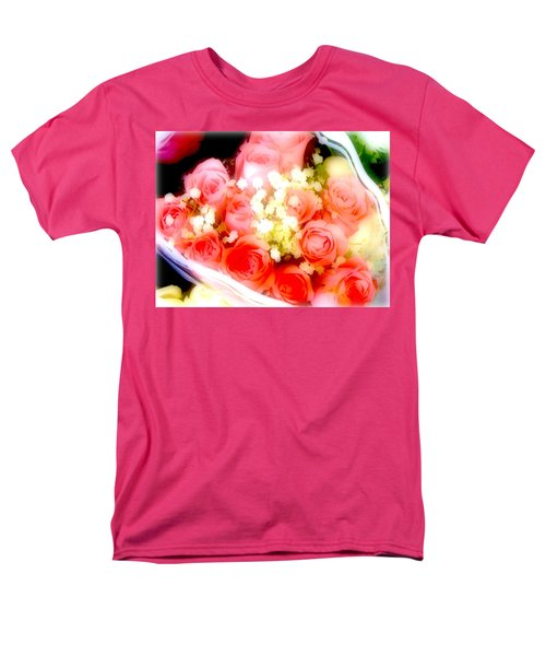 Men's T-Shirt  (Regular Fit) featuring the photograph Roses Are Red. by Ira Shander