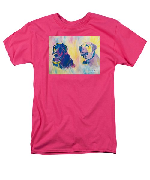 Men's T-Shirt  (Regular Fit) featuring the painting Sammy And Toby by Judy Via-Wolff