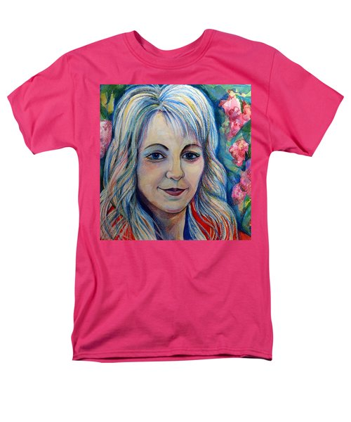 Men's T-Shirt  (Regular Fit) featuring the drawing Spring Girls. Part Two by Anna  Duyunova
