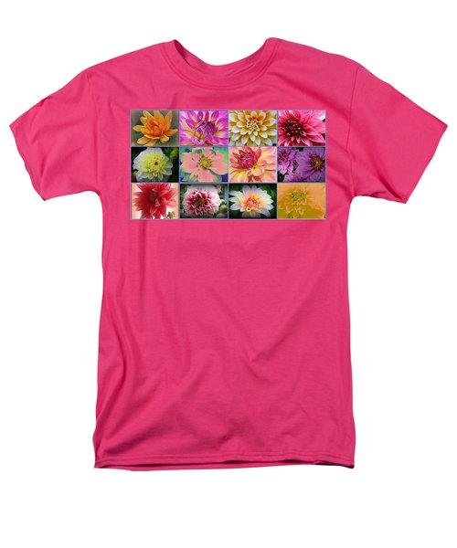Summer Time Dahlias Men's T-Shirt  (Regular Fit) by Dora Sofia Caputo Photographic Art and Design