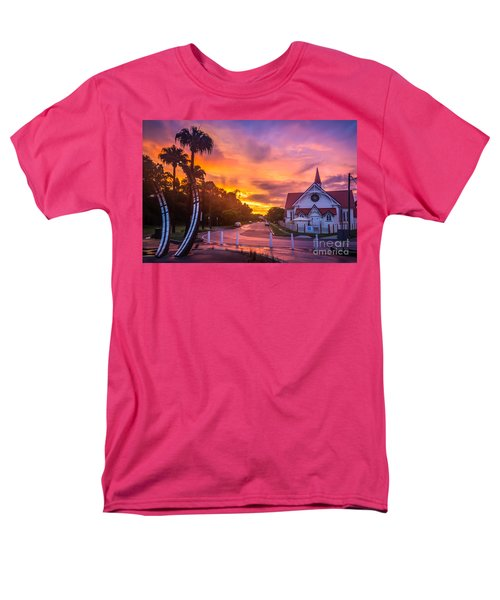 Men's T-Shirt  (Regular Fit) featuring the photograph Sunset In Sandgate by Peta Thames