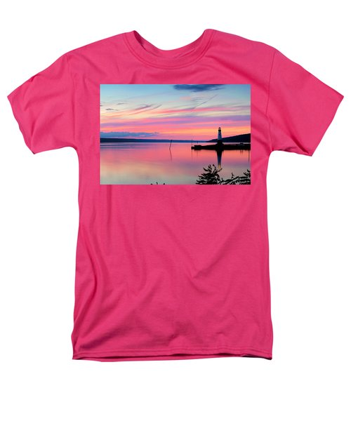 Sunset On Cayuga Lake Ithaca New York Men's T-Shirt  (Regular Fit) by Paul Ge