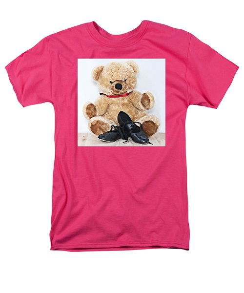 Tap Dance Shoes And Teddy Bear Dance Academy Mascot Men's T-Shirt  (Regular Fit) by Pedro Cardona