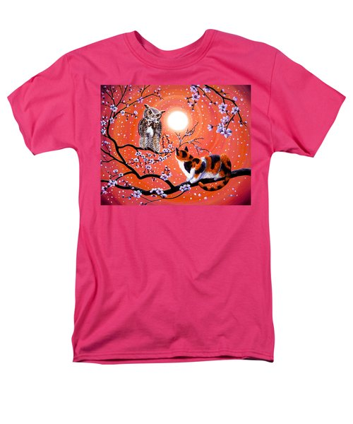 The Owl And The Pussycat In Peach Blossoms Men's T-Shirt  (Regular Fit) by Laura Iverson