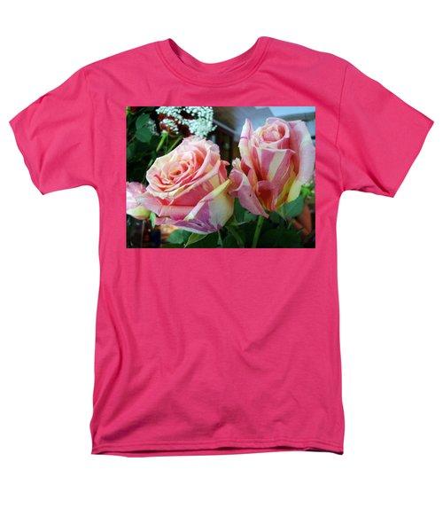 Tie Dye Roses Men's T-Shirt  (Regular Fit) by Deborah Lacoste