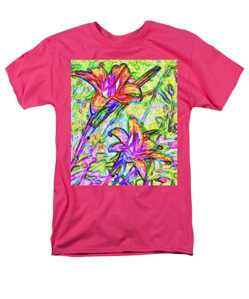 Tiger Lillies Men's T-Shirt  (Regular Fit) by Ian  MacDonald