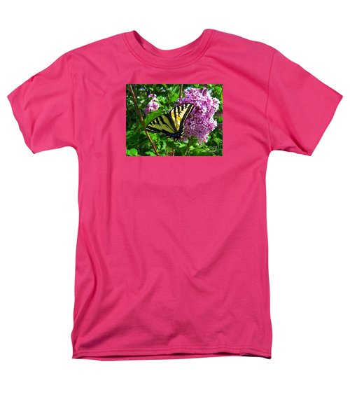 Men's T-Shirt  (Regular Fit) featuring the photograph Tiger Swallowtail by Janice Westerberg