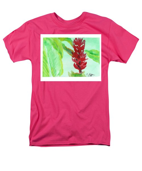 Tropical Flowers 2 Men's T-Shirt  (Regular Fit) by C Sitton