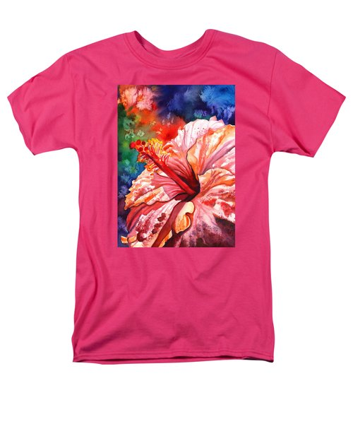 Tropical Pink Hibiscus Men's T-Shirt  (Regular Fit)