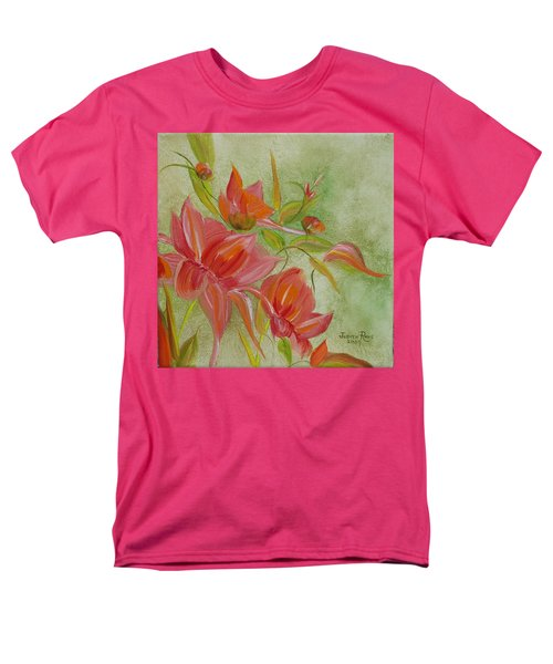 Men's T-Shirt  (Regular Fit) featuring the painting Tropical Splash by Judith Rhue
