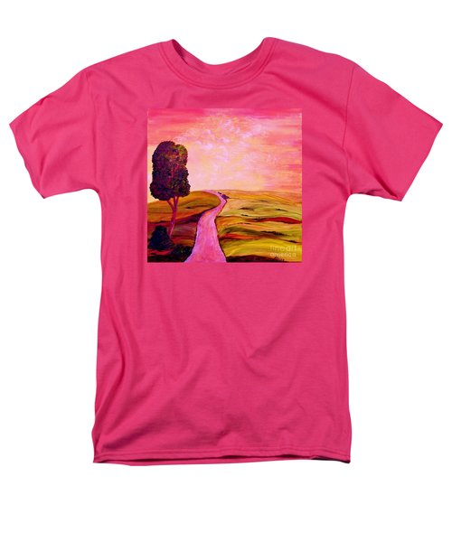 Men's T-Shirt  (Regular Fit) featuring the painting Tuscan Skies ... An Impressionist View by Eloise Schneider