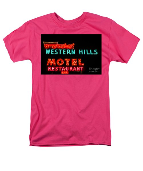 Western Hills Motel Sign Men's T-Shirt  (Regular Fit) by Sue Smith