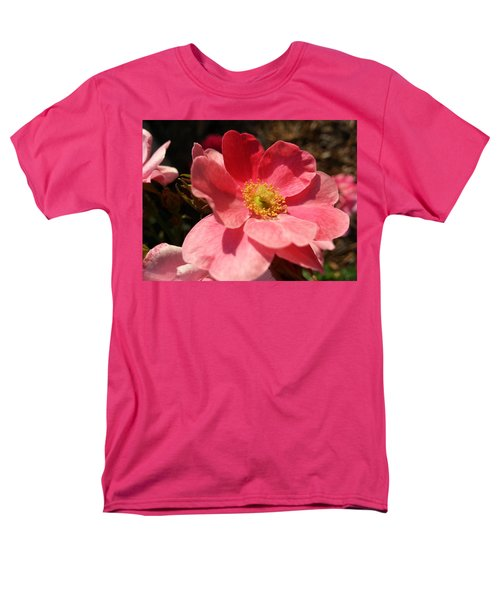 Men's T-Shirt  (Regular Fit) featuring the photograph Wild Rose by Caryl J Bohn