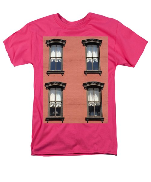 Men's T-Shirt  (Regular Fit) featuring the photograph Window's Of Hudson Ny by Ira Shander