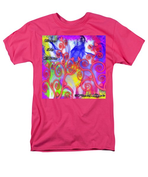 Men's T-Shirt  (Regular Fit) featuring the digital art Even In Chaos Find Love by Clayton Bruster