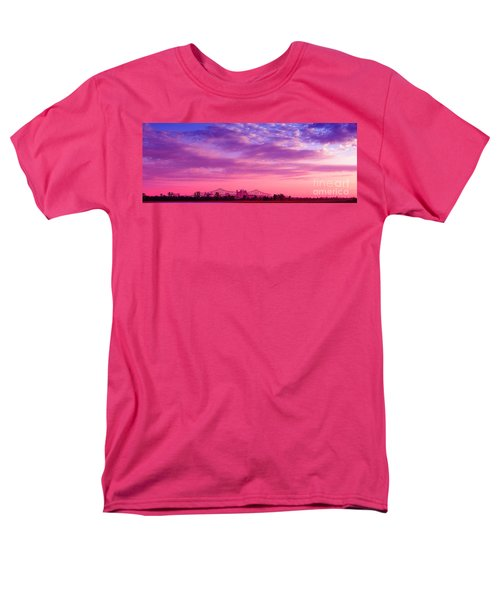 Mississippi River Bridge At Twilight Men's T-Shirt  (Regular Fit) by Judi Bagwell