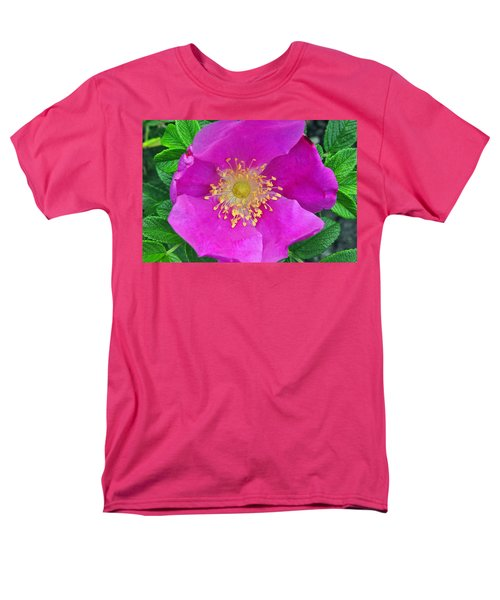 Men's T-Shirt  (Regular Fit) featuring the photograph Pink Portulaca by Tikvah's Hope