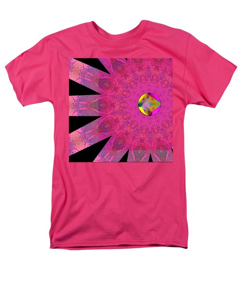 Men's T-Shirt  (Regular Fit) featuring the digital art Pink Ribbon Of Hope by Alec Drake