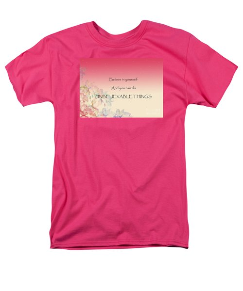 Men's T-Shirt  (Regular Fit) featuring the digital art Believe by Trilby Cole