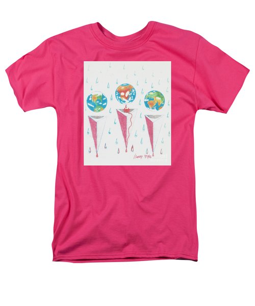 Men's T-Shirt  (Regular Fit) featuring the drawing Africa Bleeds Cupable Countries by Rod Ismay