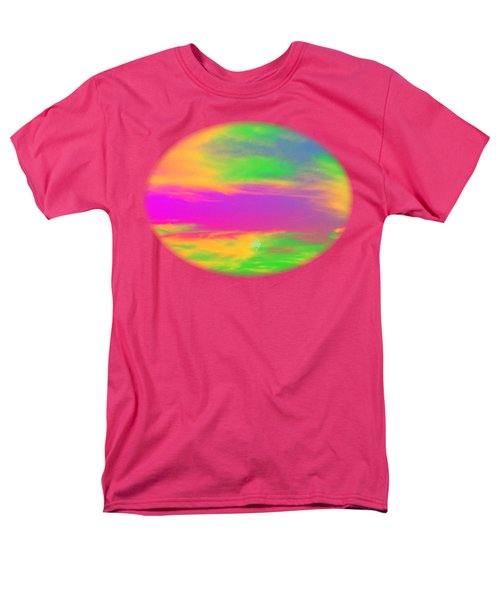 Painted Sky - Abstract Men's T-Shirt  (Regular Fit) by Linda Hollis