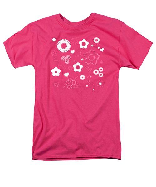Playful Flower Background Men's T-Shirt  (Regular Fit) by Serena King