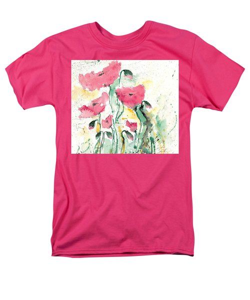 Men's T-Shirt  (Regular Fit) featuring the painting Poppies 10 by Ismeta Gruenwald