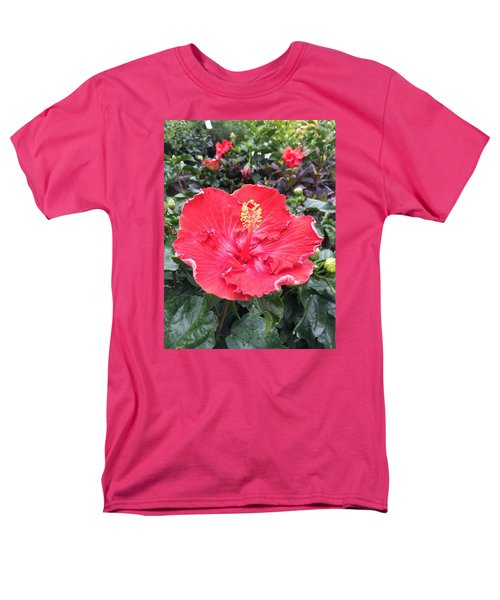 Men's T-Shirt  (Regular Fit) featuring the photograph Red Hibiscus by Kay Gilley
