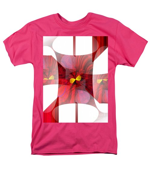 Red Transparency  Men's T-Shirt  (Regular Fit) by Thibault Toussaint