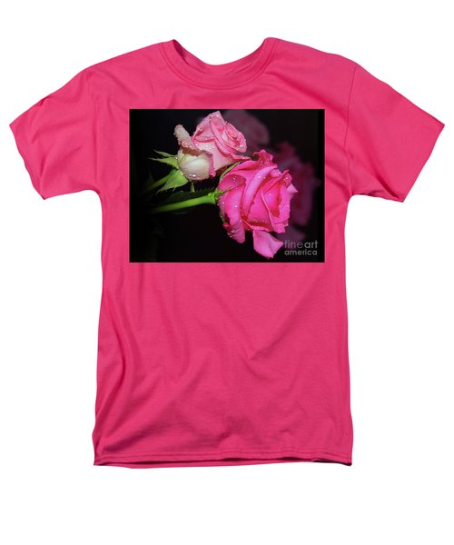 Two Roses Men's T-Shirt  (Regular Fit) by Elvira Ladocki