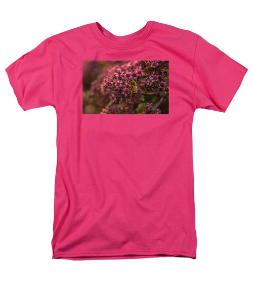 Men's T-Shirt  (Regular Fit) featuring the photograph A Summer Bee by Yeates Photography
