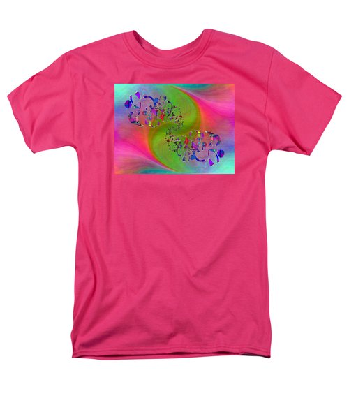 Men's T-Shirt  (Regular Fit) featuring the digital art Abstract Cubed 381 by Tim Allen
