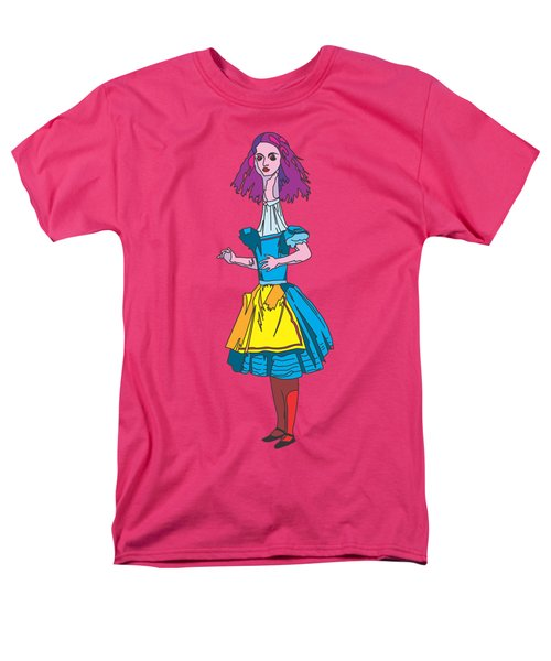 Alice In Wonderland - Ask Alice - Psychedelic Alice Men's T-Shirt  (Regular Fit) by Paul Telling