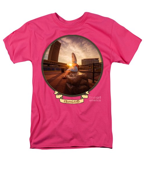 Men's T-Shirt  (Regular Fit) featuring the photograph Shark Girl Dawn - Horizontal by Chris Bordeleau
