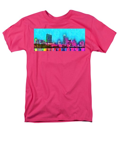 Austin Texas Skyline 103 - Pa Men's T-Shirt  (Regular Fit)