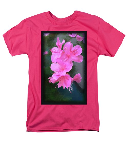 Men's T-Shirt  (Regular Fit) featuring the digital art Azalea Spray by Ginny Schmidt